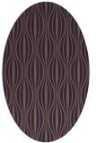 rug #236529 | oval mid-brown stripes rug