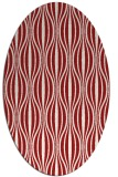 rug #236545 | oval red retro rug