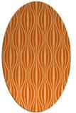 rug #236557 | oval red-orange stripes rug