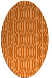 rug #236557 | oval red-orange retro rug