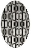 rug #236569 | oval white stripes rug