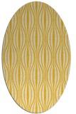 rug #236585 | oval yellow retro rug