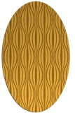 rug #236601 | oval yellow retro rug