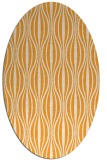 rug #236645 | oval light-orange stripes rug