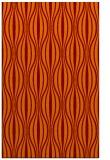 rug #236837 |  red-orange retro rug