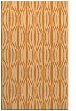 rug #236965 |  orange retro rug