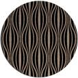 rug #237013 | round black stripes rug