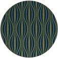 rug #237037 | round blue retro rug