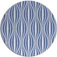 rug #237041 | round blue stripes rug