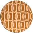 rug #237193 | round orange retro rug