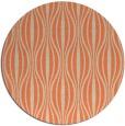 rug #237197 | round orange retro rug