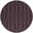 rug #237233 | round mid-brown stripes rug