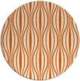 rug #237269   round red-orange stripes rug