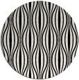 rug #237273 | round white stripes rug