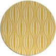 rug #237289 | round yellow stripes rug