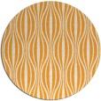 rug #237349 | round light-orange stripes rug