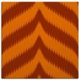 rug #237961 | square red-orange graphic rug