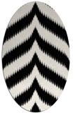 rug #238061 | oval white stripes rug