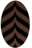rug #238073 | oval black graphic rug