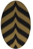rug #238077 | oval brown stripes rug