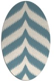 rug #238081 | oval white graphic rug