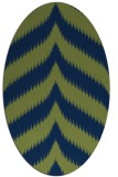 rug #238093 | oval blue graphic rug