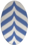 rug #238097 | oval blue graphic rug