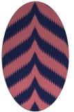 rug #238149 | oval blue-violet graphic rug