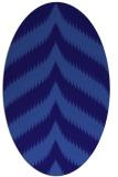 rug #238161 | oval blue-violet rug