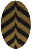 rug #238173 | oval black stripes rug