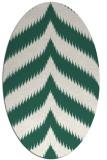 rug #238189 | oval blue-green popular rug