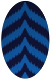 rug #238225   oval blue graphic rug