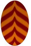 rug #238245 | oval orange graphic rug