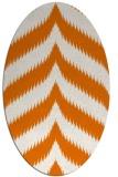 rug #238249 | oval orange stripes rug
