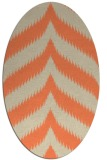 rug #238253 | oval orange stripes rug