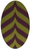 rug #238285 | oval purple stripes rug