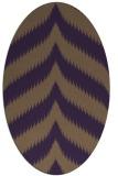 rug #238289   oval purple graphic rug