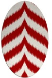 rug #238297 | oval red graphic rug