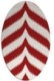 rug #238305 | oval red stripes rug