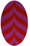 rug #238309 | oval pink graphic rug