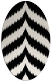 rug #238329 | oval white graphic rug