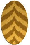 rug #238361 | oval light-orange stripes rug