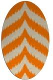 rug #238373 | oval beige stripes rug