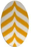 rug #238393 | oval light-orange graphic rug