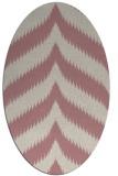 rug #238397   oval pink graphic rug
