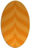 rug #238401 | oval light-orange stripes rug