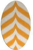 rug #238405 | oval light-orange stripes rug