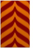 rug #238597 |  red-orange graphic rug