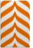 rug #238601    orange graphic rug
