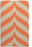 rug #238605 |  orange stripes rug